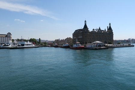 kadikoy: Famous Haydarpasa Train Station in Kadikoy, Symbol Landmark of Istanbul, Turkey
