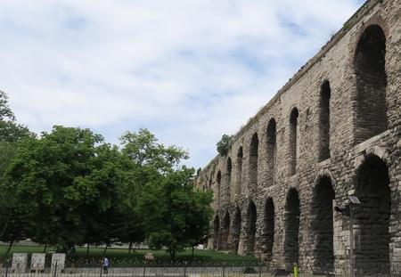 Valens Aqueduct in Istanbul-Fatih, Turkey