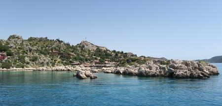 the sunken: Kekova Island and the Ruins of the Sunken City Simena in the Antalya Province, Turkey