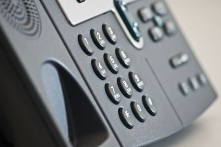 dial pad: keypad office ip telephone Stock Photo