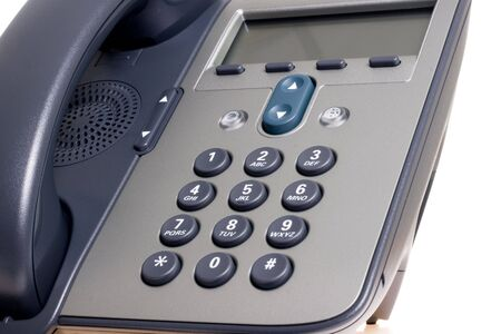 Modern office phone using VoIP technology. photo