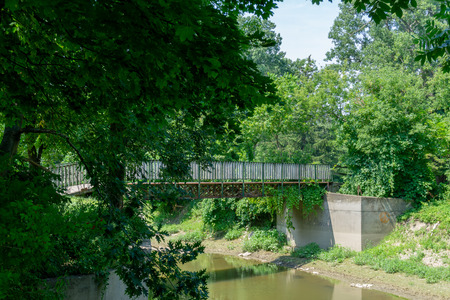 Bridge over water at park