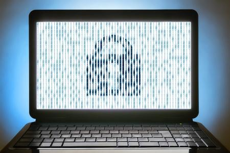 rsa: black laptop no sign keyboard binary numbers
