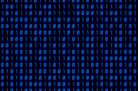 blue binary numbers on digital screen background photo