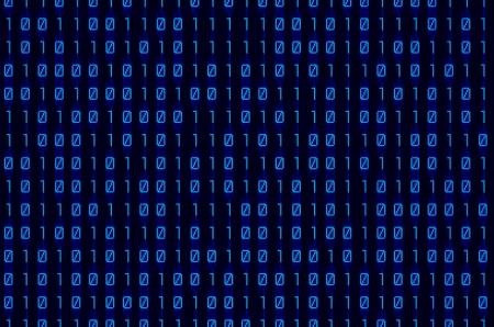 byte: blue binary numbers on digital screen background