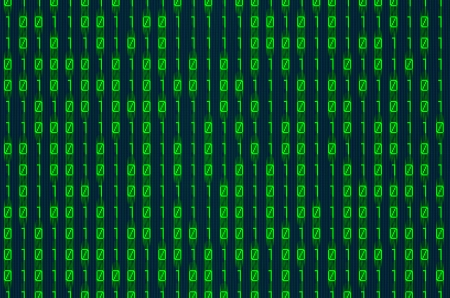 red binary numbers on digital screen background photo