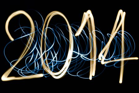 light painting year 2014 photo
