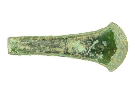 prehistoric bronze age axe isolated