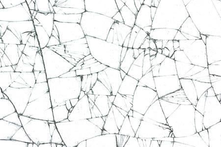 broken glass texture on white background Standard-Bild