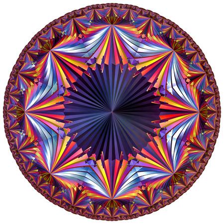 fractal colored hyperbolic tesselation Stock Photo
