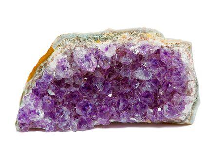 raw fragment of amethyst mineral gem stone