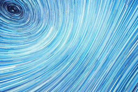 milky way long stars trails around north star highlighting earth rotation