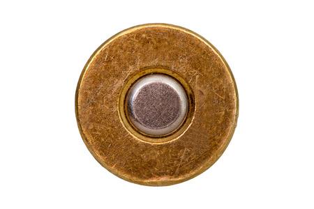 Cartouche de balle inférieure sur fond blanc