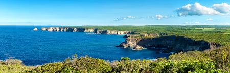 pointe de la grande vigie cliffs, panoramic view,Guadeloupe, French West Indies Imagens