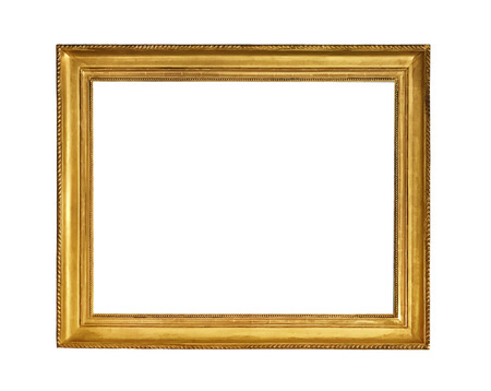 antique golden textured masterpiece frame with copyspace isolated on white backround Reklamní fotografie