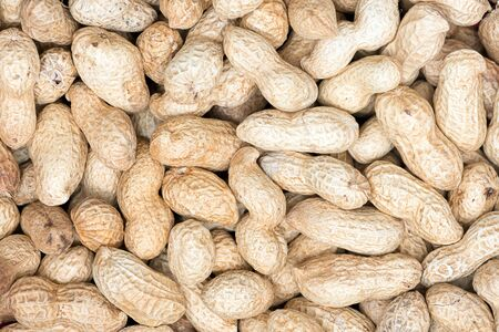 many raw peanuts in their shell texture