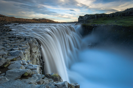 scenic: Dettifoss. Waterfall situated in Vatnajokul NP in Northeast Iceland.