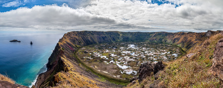 Crater of Rano Kau Easter Island Chile