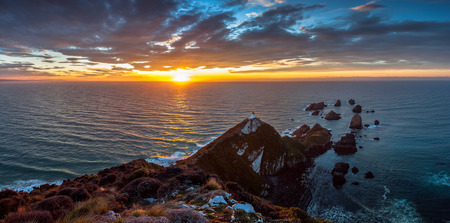 nugget: Sunrise at Nugget Point, The Catlins, New Zealand.