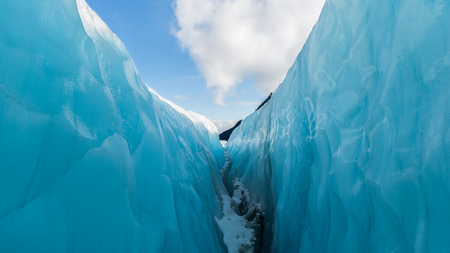 fox glacier: Between ice and sky, Fox Glacier, New Zealand.