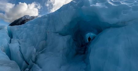 Ice cave, Fox glacier, New Zealand. Stok Fotoğraf