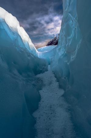 fox glacier: Between ice and sky, Fox Glacier, New Zealand.