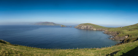 dunquin: Panoramic view of teh Slea Head on the Dingle Peninsula in Ireland