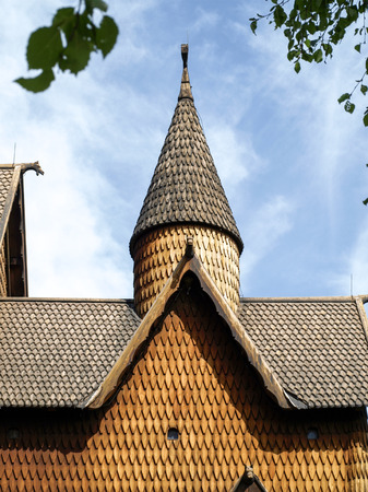 stave: Heddal Stave Church near Notodden in Norway Stock Photo