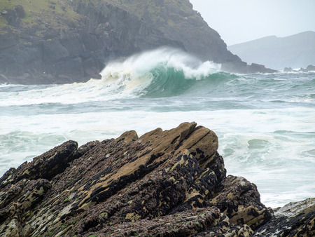 breaking wave: Breaking wave, Clogher Strand, Dingle Peninsula, Ireland
