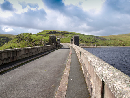 elan: Dam of Clearwen reservoir, Elan Valley, Wales