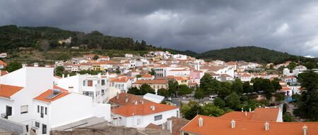 monchique: Storm over Monchique - Algarve in southern Portugal Editorial