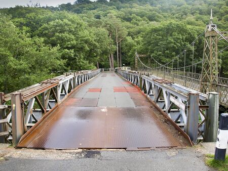 elan: Old iron bridge in the Elan valley in Wales, still in use.
