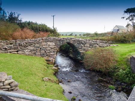 rivulet: Old stone bridge with a rivulet on the Dingle peninsula in Ireland