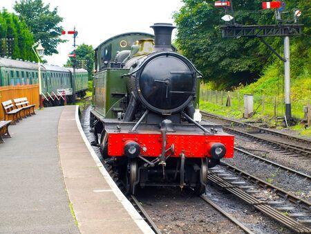 british weather: Steam locomotive