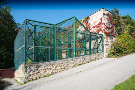Abandoned bear cage in the city park of Wiener Neustadt in Lower Austria