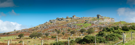 bodmin: The Cheeswring, a natural rock formation on Stowes Hill in the Bodmin Moor near Minions in Cornwall. Stock Photo
