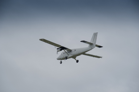 scilly: Departing aeroplane from the St Marys Airport on the Isles of Scilly.