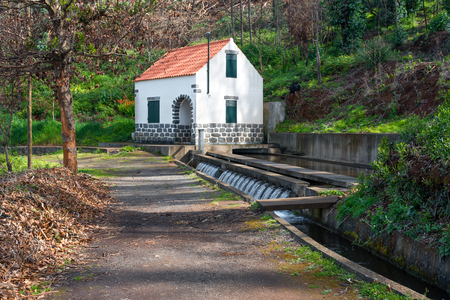 Well with attached house feeding a Levada. Leavdas are irrigation channels specific to the island of Madeira.