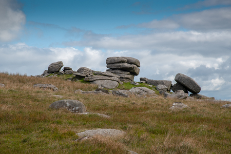 Showery Tor is a natural rock formation on Bodmin Moor in Cornwall, UK. Banco de Imagens