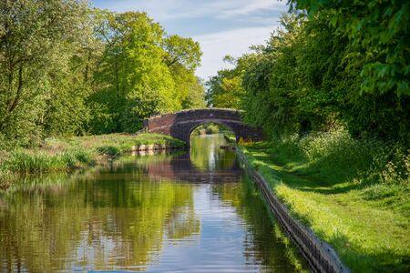 Halls Lane bridge No 12 over the Llangollen Canal near Ravensmoor in Cheshire, UK
