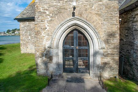 Entrance to the St Michael´s Church in Rock, northern Cornwall, UK