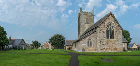 St Issey C of E Church in north Cornwall, UK