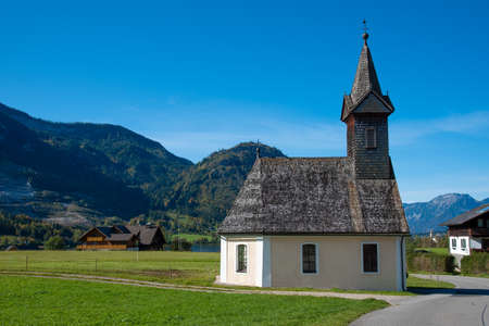 Saint Raphael chapel near the east shore of the Grundlsee in Styria, Austria.
