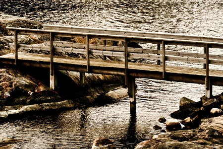 A small wooden bridge  photo