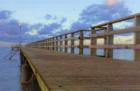 A picture of a wooden bathing bridge on a summer day Stock Photo - 22423418