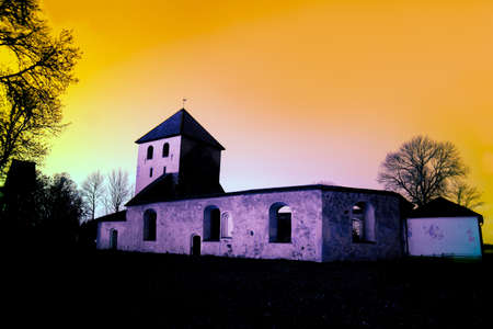 church ruins: Bjorkvik Church Ruins Stock Photo