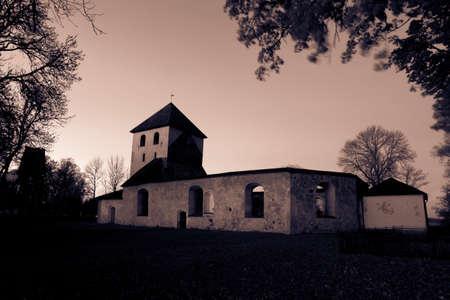 church ruins: Church Ruins from a fire centuries ago Stock Photo