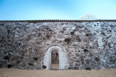 church ruins: Saint Nicholas Church Ruins Stock Photo