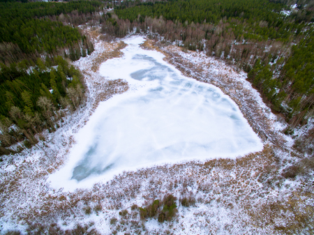 activate: Frozen in time lake will activate in spring Stock Photo