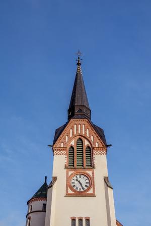 episcopal: Katrineholms kyrka bell tower and spire,